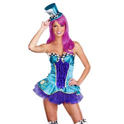 Totally Mad Costume, Neon Mad Hatter Costume, Adult Hatter Costume, Female Mad Hatter Costume, #N6766