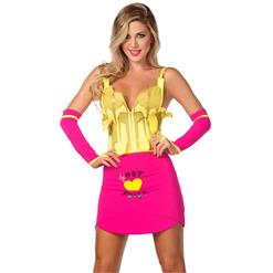 Exclusive Sexy French Fries Costume, Hot Fries Costume, Sexy French Fry Costume, French Fry Halloween Costume, #N7199
