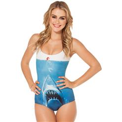 Shark Jumpsuit Swimwear, Jumpsuit Swimwear, Shark & Mermaid Teddy Swimsuit, #N7751