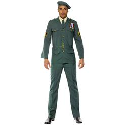 Wartime Soldier Green Beret Costume, Wartime Military Officer Costume, Second World War Costume, #N7836