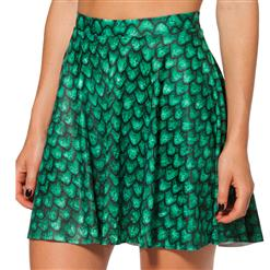 Rhaegal Dragon Egg Skater Skirt, Green Skater Skirt, Rhaegal Dragon Egg Skirt, #HG7955