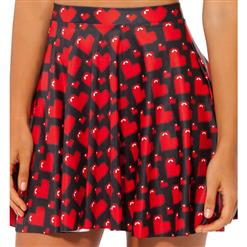 Love Ya Bits Black Skater Skirt, Love Heart Skater Skirt, Love Skater Skirt, #HG7959