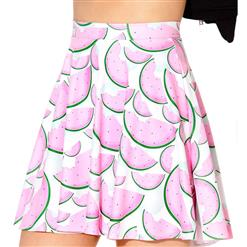 Watermelon Skater Skirt, Skater Skirt, Watermelon Skirt, #N7990
