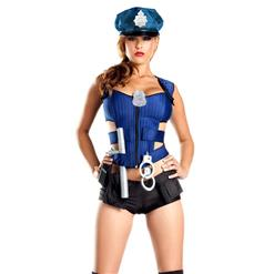 Sexy Rookie Cop Costume, Wicked Ravishing Rookie Costume, Sexy Police Woman Costume, #N8097
