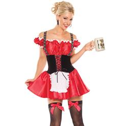 Christmas Cheer Costume, North Pole Cutie Costume, Bavarian Beer Girl Costume, #N8193