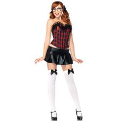 Peppy Schoolgirl Costume Kit, Preppy School Girl Costume Kit, Plaid Schoolgirl Kit, #N8203