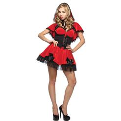 Red Riding Hottie Costume, Red Riding Hood Costume, Adult Red Riding Hood Halloween Costume, #N8619