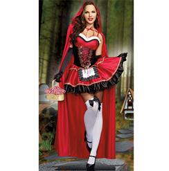Little Red Costume, Sexy Red Riding Hood Costume, Little Red Riding Hood Costume, #N8926