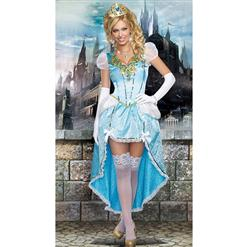 Having A Ball Costume, Sexy Blue Princess Costumes, Sexy Fairytale Princess Costume, #N8927