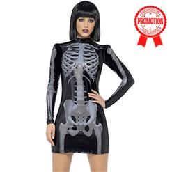 Sexy X-Ray Costume, Women's Skeleton Costume, She's All Bones Costume, #N9122