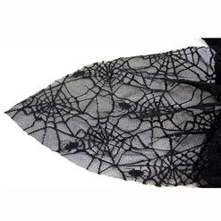 Sexy Black Lace Braces Witch Mini Dress Adult Halloween Fancy Ball Thetrical Costume N9168
