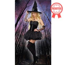 The Bad Enchantress Costume, Wicked Witch Costume, Black Witch Costume, #N9168