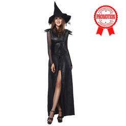 Sexy Black Imitation Alligator Split-Front Wtich Adult Halloween Theatrical Costume N9176