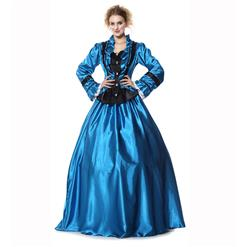 Civil War Victorian Satin Ball Costumes, Brand New Civil War Satin Princess Costumes, Brand New Civil War Satin Princess Costumes, #N9304