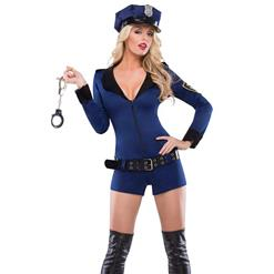 Beat Cop Costume, Cheap Police Costume, Halloween Costume, Hot Sale Lady Costume, #N9898