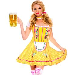 Sexy Oktoberfest Beer Stein Babe Costume, Fancy Beer Women's Costume, Cheap Adult Costume, #N9936