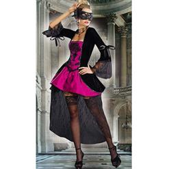 Sexy Black and Rose Halloween Costume, Women's Halloween Costume, Cheap Outfit, Masquerade Costume, #N9961