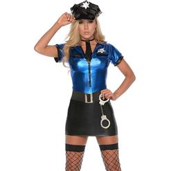Women's Cop Costume, Halloween Costume, Fancy Costume, Hot Sale Frisky Cop Costume, Cheap High Quality Costume, #N9962