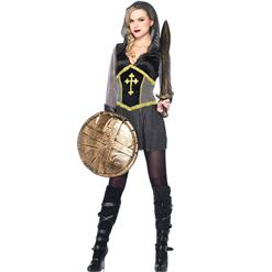 Women's Joan Of Arc Costume, Women's Heroes Costume, Cheap Halloween Costume, #N9969