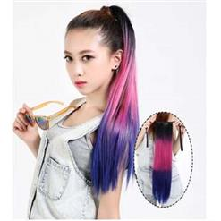 Fashion Sexy Straight Ponytail Wigs, Gradient Color Straight Ponytail Wigs, Wholesale Wigs, #MS9267