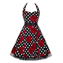 Retro Dresses for Women, Vintage Dresses for Women, Sexy Dresses for Women Cocktail Party, Casual Mini dress, Polka Dot Swing Daily Dress, #N14845