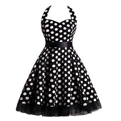 Retro Dresses for Women, Vintage Dresses for Women, Sexy Dresses for Women Cocktail Party, Casual Mini dress, Polka Dot Swing Daily Dress, #N14841