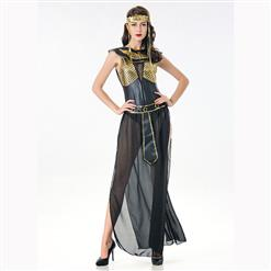 Egyptian Queen Role Play Costume, Classical Egyptian Queen Halloween Costume, Noble Adult Egyptian Queen Costume, Egyptian Queen Masquerade Costume, Egyptian Queen Halloween Adult Cosplay Costume, #N17106