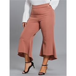 Bellbottoms for Women, Full Length Bellbottoms, Street Casual Bellbottoms, Women Casual Bellbottoms, Fashion Bellbottoms Brick Red, Fashion Bellbottoms for Women, #N15429