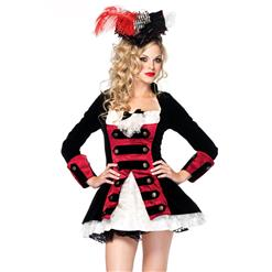 Charming Pirate Captain Costume, Sexy Captain Costume, Womens Captain Costume, #P2907