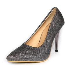 Sexy High Heels, Pointed Toe Luxury Bling Pumps, Glitter High Heels, #SWS12135