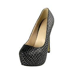 Black Pumps High Heels, Lady Round Toe Shoes, Cheap Snake Skin Pattern High-heeled Shoes, Hot Sale Discount Women's Shoes, #SWS20294