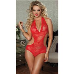 Paisley Net Lace Teddy Lingerie, Teddy Lingerie Set, Red Lace Teddy Lingerie, #TD5519