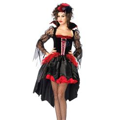 Midnight Mistress Costume, Midnight Vampire Costume, Womens Vampire Costume, #W1719