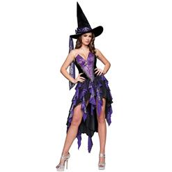 Deluxe Bewitching Beauty Costume, Deluxe Purple Witch Costume, Deluxe Adult Witch Costume, Sexy Halloween Witch Costume, #W6336