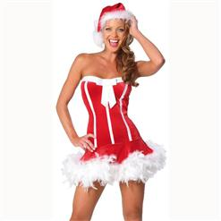 Sweet Santa Dress,Santa Sweetie Costume ,Sexy Christmas costume wholesale,#XT6006