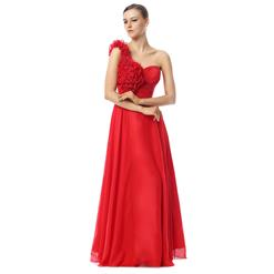 Maxi Dress, Long Cheap Dress, Prom Dress For Cheap, Red Flowers Prom Dresses, Women's Discount Prom Dresses, #Y30031