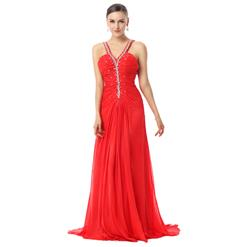 Sexy Evening Dresses, Women's Dresses for Cheap on sale, Buy Discount Dresses, Red Dress, Hot Chiffon Dresses,  Evening Dresses Cheap, #Y30036