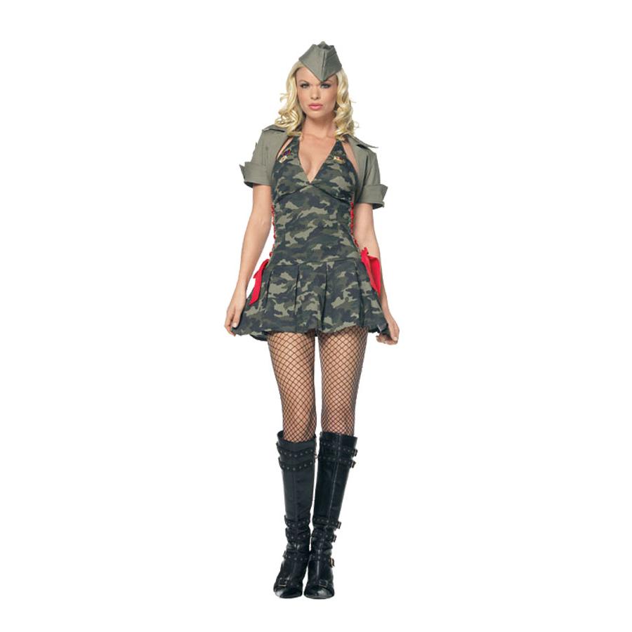 Девушки в мини военной форме — 8