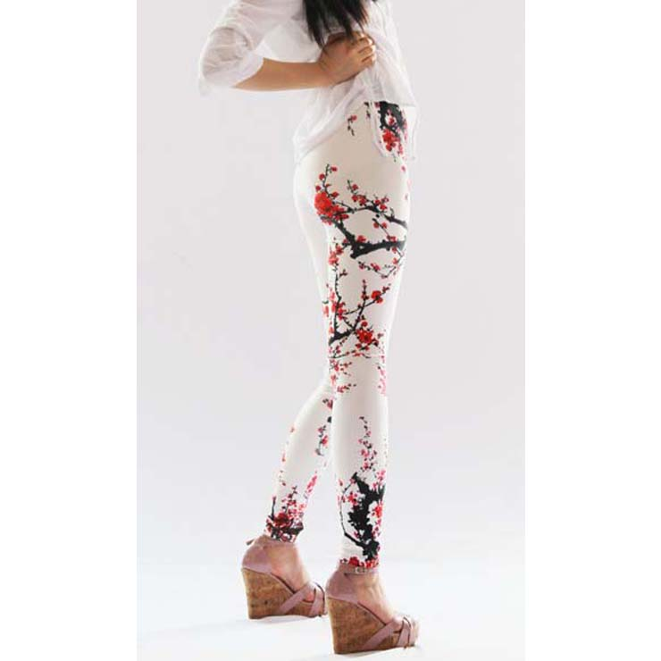 Women's Classical Plum Blossom Print Leggings L10255