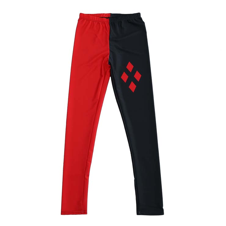Fashion Black and Red Stretch Leggings L10511