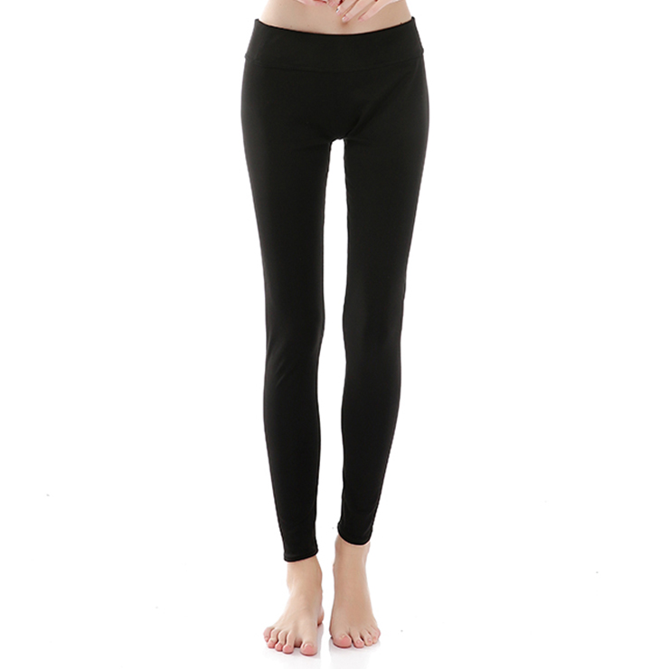 Fashion Casual Black High Waist Stretchy Sports Leggings Yoga Fitness Pants L16379