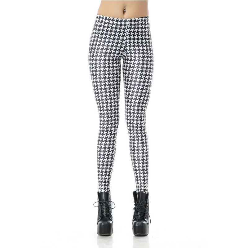 Chic Houndstooth Leggings L7853