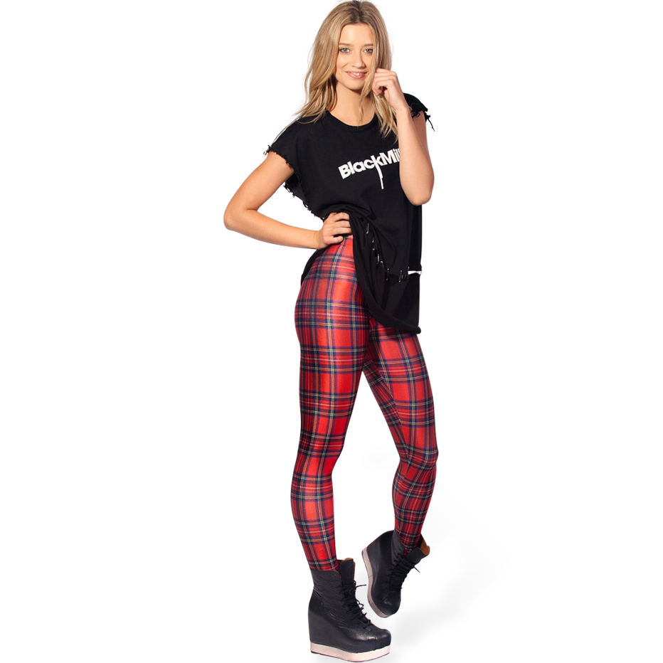 Tartan Red Leggings L8169