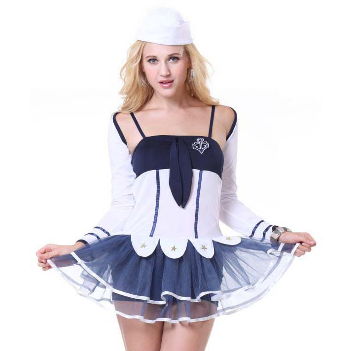 Fashion Women's Navy-Blue Sailor Suit N10081