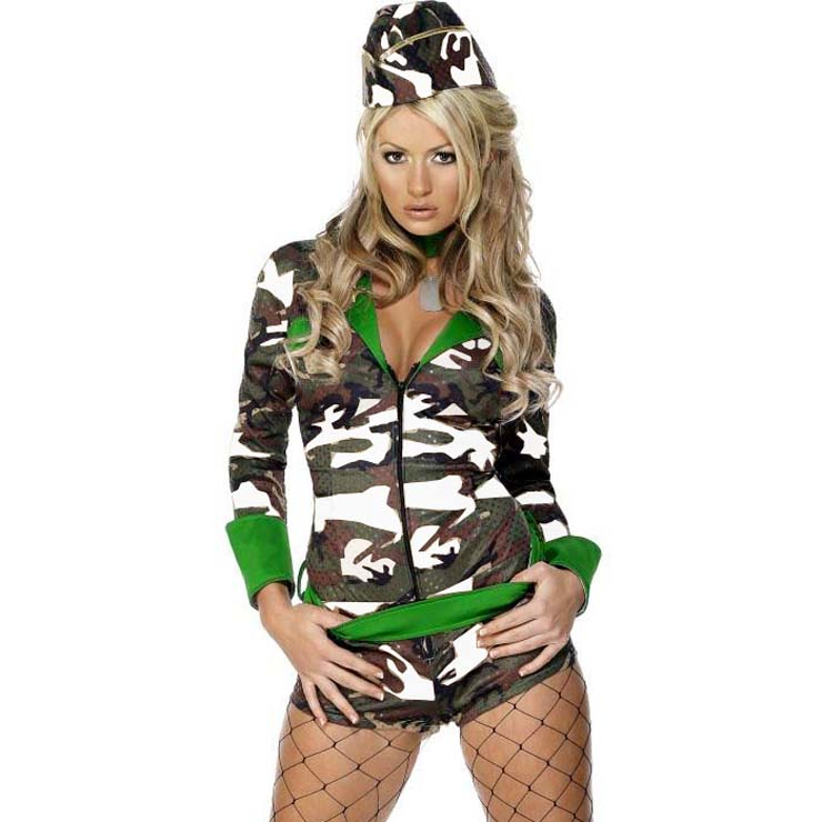 Fever Combat Chick Costume N10833