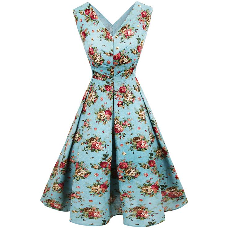 Vintage Floral Print Dress 56