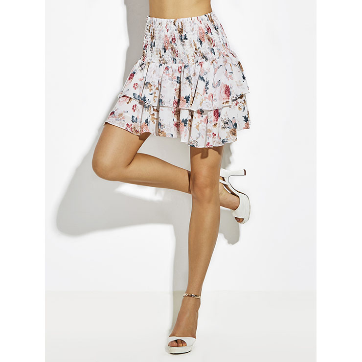 Clothing, Shoes & Accessories Women's Clothing Energetic Floral Skirt