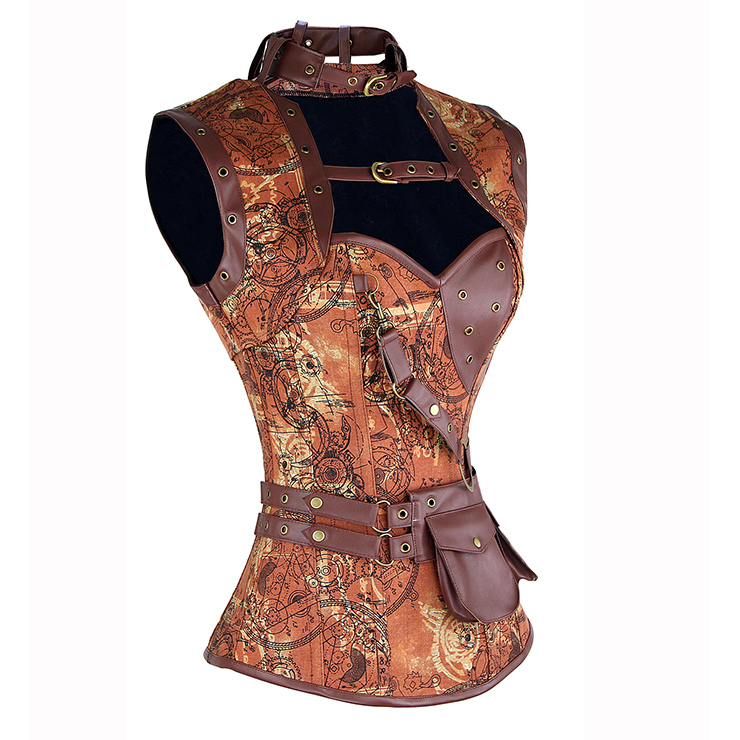 Steampunk Corset with Sleeveless Jacket N14416