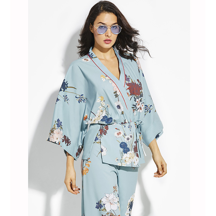 WDIRA Women's Half Sleeve Tie Front Kimono Top Blouse. by WDIRA. $ $ 14 99 Prime. FREE Shipping on eligible orders. Some sizes/colors are Prime eligible. out of 5 stars OLRAIN Women's Casual Floral Printed Long Kimono Coats Outwear Cardigan Tops. by OLRAIN. $ - $ $ 11 $ 18 99 Prime.