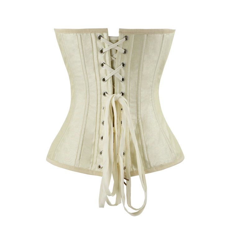 Women's Victorian Sweetheart Neck 14 Steel Boned Embroidery Overbust Corset N14696